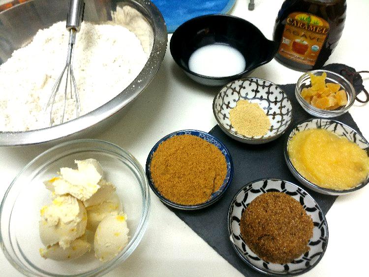 עוגת בננות וג'ינג'ר - מרכיבים